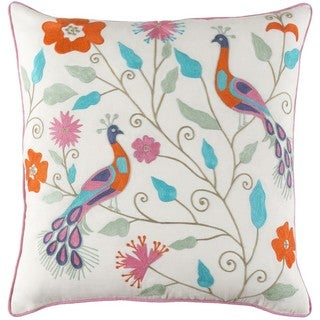 Decorative Villejuif 20-inch Feather Down or Poly Filled Throw Pillow