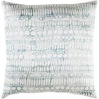 Decorative Suresnes 20-inch Feather Down or Poly Filled Throw Pillow
