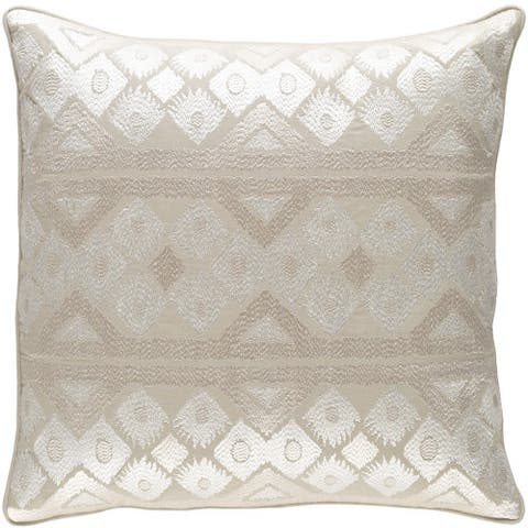 Decorative Sigatoka 20-inch Feather Down or Poly Filled Throw Pillow