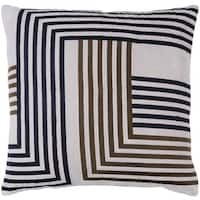 Decorative WestHam 18-inch Feather Down or Poly Filled Throw Pillow