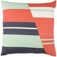 Decorative Wallsend 18-inch Feather Down or Poly Filled Throw Pillow