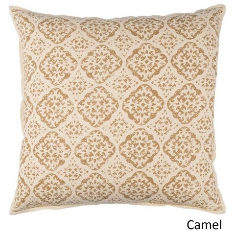 Decorative Villeurbanne 18-inch Feather Down or Poly Filled Throw Pillow
