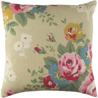 Decorative Ventura 18-inch Feather Down or Poly Filled Throw Pillow