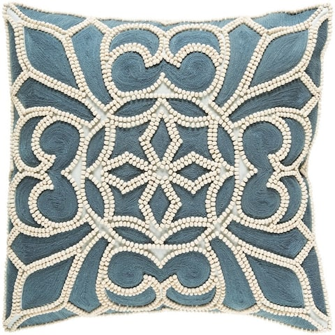 Decorative Soham 18-inch Feather Down or Poly Filled Throw Pillow