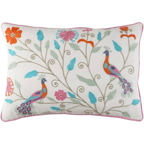 Decorative Villejuif Feather Down or Poly Filled Throw Pillow (13 x 19)