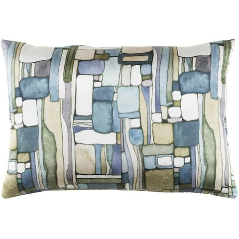 Decorative Sunni Feather Down or Poly Filled Throw Pillow (13 x 19)