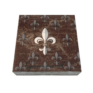 Epicureanist Fleur de Lis Brown Paper Napkins (16 Packs of 20)