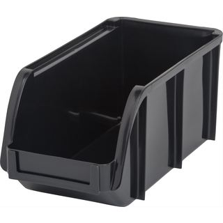 IRIS Black Plastic Medium Stacking Bin (Pack of 8)