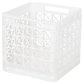 Iris White Plastic Stacking Crate (Pack of 4)