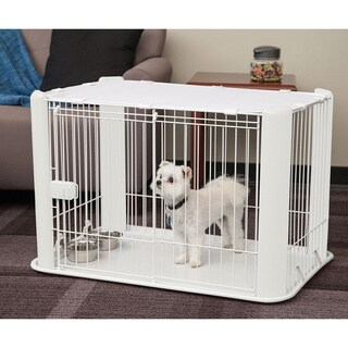 IRIS Small Wire Pet Play Pen with Roof
