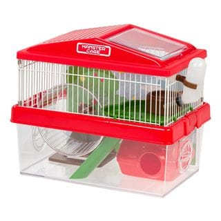Iris USA Wire and Plastic 2-Tier Hamster Cage