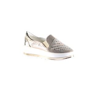 Hadari Women's Fashion Casual Slip On Gold Sneakers Shoes