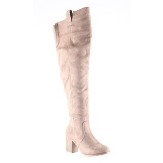 Hadari Women's Fashion Thigh High Over Knee Faux Suede Dress Boot Shoes
