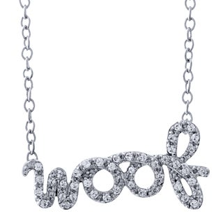 ASPCA Tender Voices Sterling Silver 4/25ct TDW Diamond Woof Necklace (I-J, I2-I3)