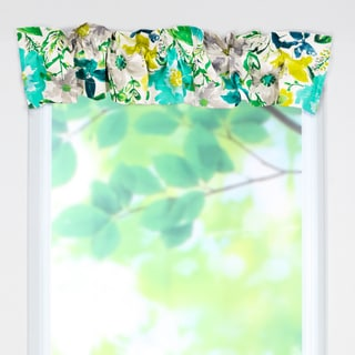 O'Keefe Turquoise Cotton 53 x 9 Sleeve Topper Valance