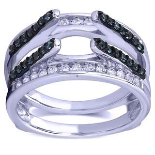 14k White Gold 31/50ct TDW Diamond Wraps Ring Enhancer