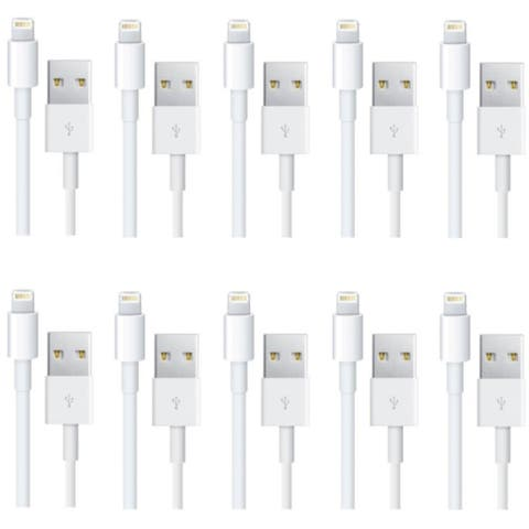 4XEM 10 Pack 3Ft 1M charging data and sync Cable For Apple iphone 5 5s 6 6s 6plus 7 7plus