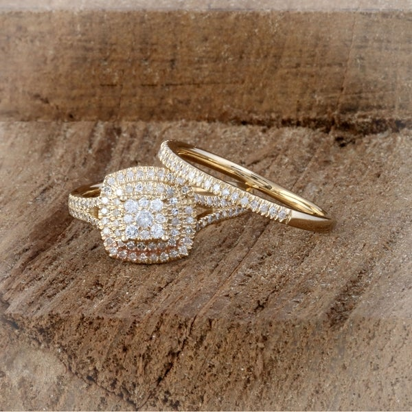 Details about  /1.36 ct Round Halo Light Sea Green Promise Bridal Wedding Ring 14k Yellow Gold
