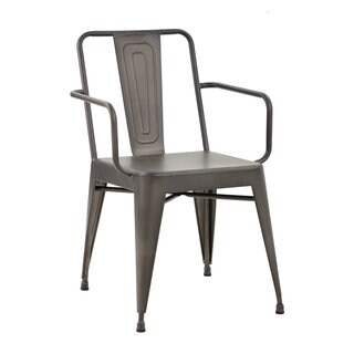 Sunpan Armour Steel Armchair