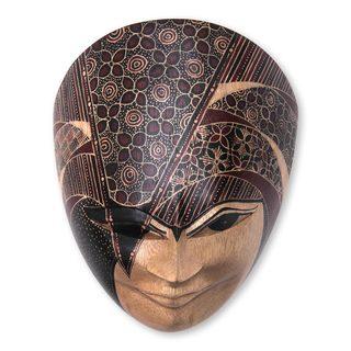 Dimas Wood Batik Mask (Bali and Java)