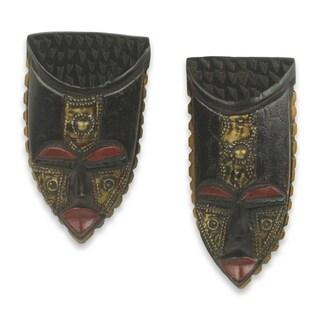Pair of Passport African Wood Mini Masks (West Africa)
