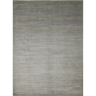 Fine Grass Siddharth Blue/Grey Wool/Viscose Rug (11'10 x 15'11)