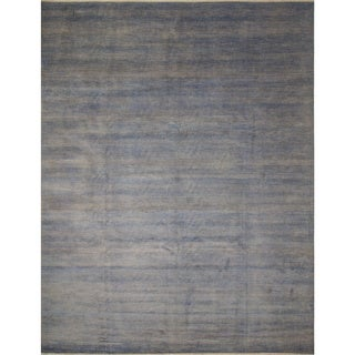 Fine Grass Kazam Grey Wool/Viscose Rug (12' x 14'11)