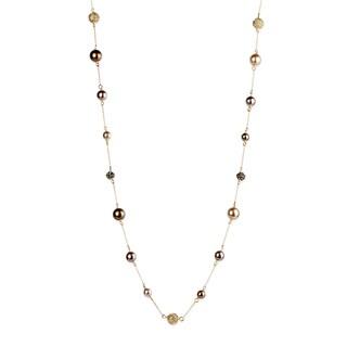 Handmade Saachi Sea Shell Pearls Chain Necklace (China)