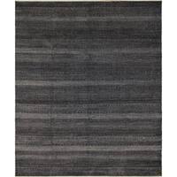 Noori Rug Fine Grass Noor Black/Ivory Rug - 8'0 x 10'0