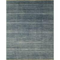 "Noori Rug Fine Grass Panhyar Teal Blue/Ivory Rug - 9'1"" x 12'0"""