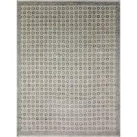Oushak Murtaza Blue/Ivory Wool Rug (8'11 x 12'2) - 8'11 x 12'2