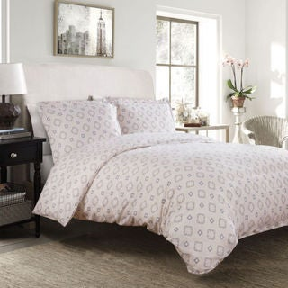 Bedsure Ultra Soft Bethany Hint of Peach Medallion Duvet Cover Set
