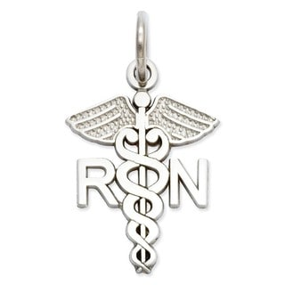 14k Yellow or White Gold RN Nurse Charm