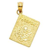 14k Yellow Gold Passport Charm