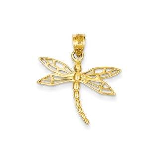 Women's 14k Yellow Gold Dragonfly Charm