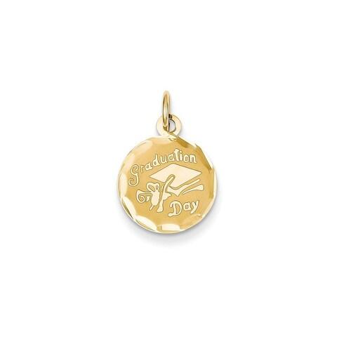 14k Yellow Gold Graduation Cap Charm