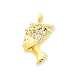 14k Yellow Gold Nefertiti Charm