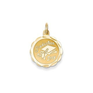14k Yellow Gold Graduation Day Charm