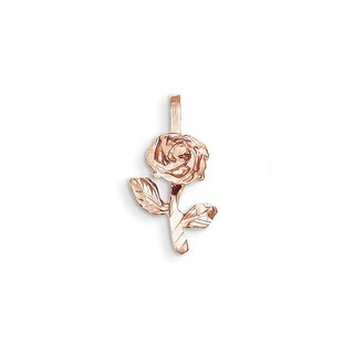 Women's 14k Rose Gold Rose Charm