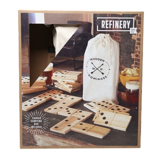 Refinery Jumbo Wood Dominoes Set