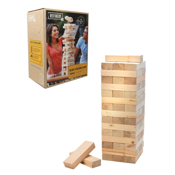 Shop Refinery Wood Block Stacking Game On Sale Free Shipping Impressive Games With Wooden Blocks