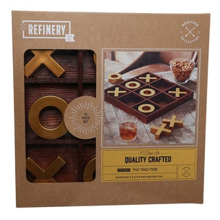 Refinery Oversized Wooden Tic Tac Toe Game