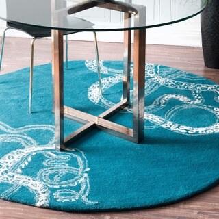 nuLOOM Handmade Octopus Tail Faux Silk/ Wool Round Rug (6' Round)