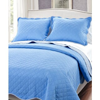 Serenta Reversible Quilted 3-piece Bedspread Set