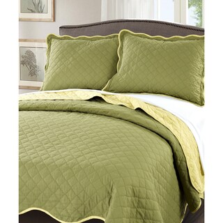 Serenta Reversible Quilted 3-piece Bedspread Set