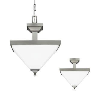Sea Gull Denhelm 2 Light Brushed Nickel Ceiling Fixture