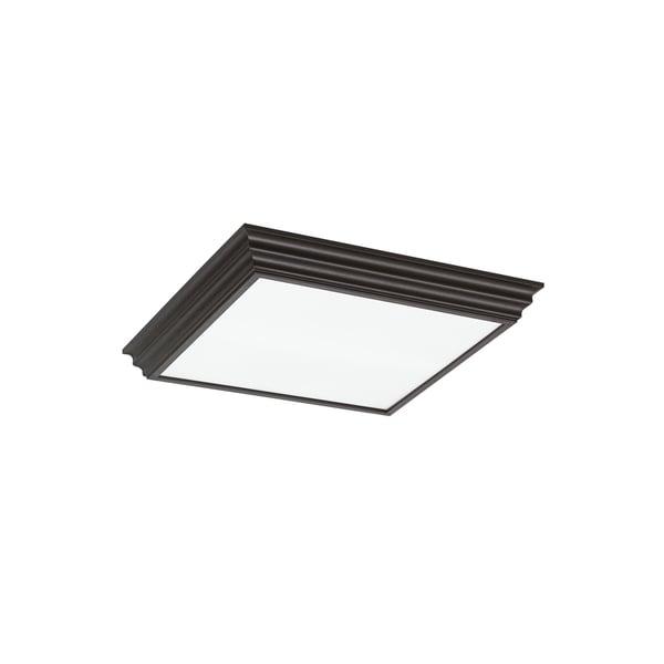 gull decorative drop lens fluorescent 4 light espresso ceiling fixture. Black Bedroom Furniture Sets. Home Design Ideas
