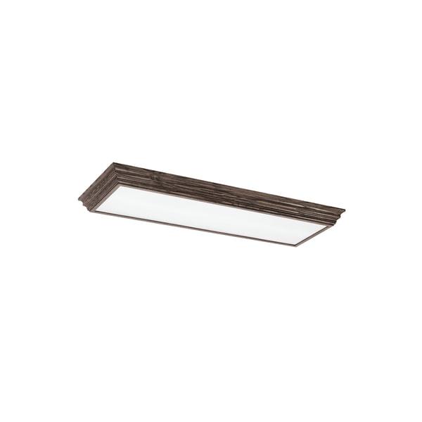 decorative drop lens fluorescent 4 light burnt oak ceiling fixture. Black Bedroom Furniture Sets. Home Design Ideas