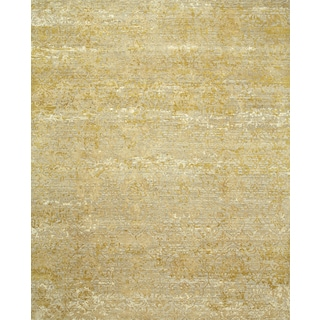 Hand Knotted Antique White/Golden Apricot Contemporary Pattern Rug (12' X 15')