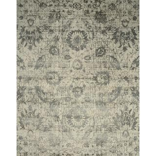 Hand Knotted White/Shale Contemporary Pattern Rug (12' X 15')